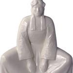 HB Henriot blanc quimper bigoudene assise